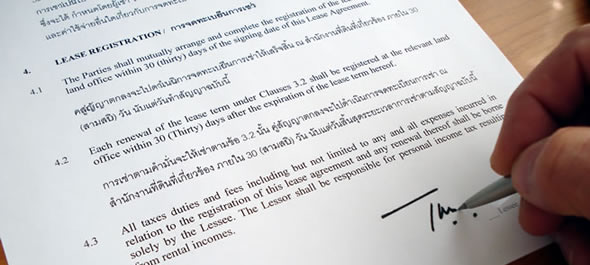 The Thailand Lease Agreement According To The Thai Law